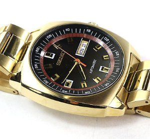 SEIKO Men's Recraft Yellow Gold Plated  Automatic Watch