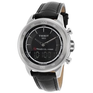 Tissot T0834201605110 Watches,Men's Sp. Ed. T-Touch Classic Digital Analog Black Gen Leather & Dial, Limited Edition Tissot Analog Digital Watches