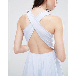 ASOS Midi Skater Dress With Cross Back