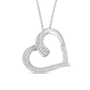 Diamond Accent Heart Pendant in Sterling Silver - Save on Select Styles - Zales