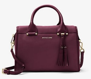 MICHAEL Michael Kors Geneva Large Leather Satchel