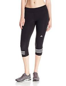 adidas Performance Women's Response 3/4 Tights, Large, Black/White