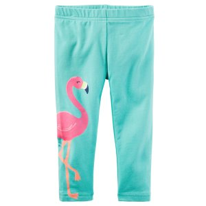 Baby Girl Flamingo Capri Leggings   Carters.com