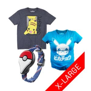 Pokemon Go Plus X-Large T-Shirt Bundle