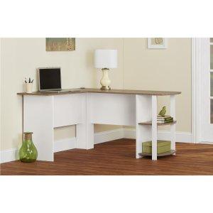 Altra Furniture 9354015PCOM Dakota L-Shaped Desk with Bookshelves