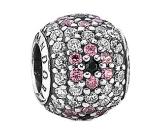 PANDORA Shimmering Blossom Silver CZ & Crystal Charm