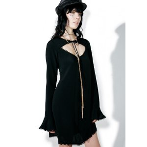 For Love & Lemons Dark Josephina Swing Dress | Dolls Kill