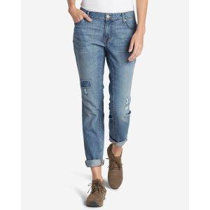 Women's Boyfriend Slim Jeans - Destroyed | Eddie Bauer