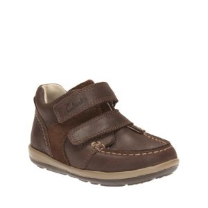 Softly Doc First Dark Brown Lea - Boys' Casual Shoes - Clarks® Shoes Official Site