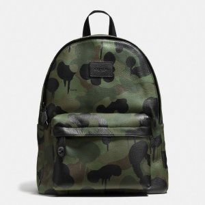 COACH Mens Leather Backpacks | Campus Backpack In Printed Pebble Leather