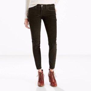 710 Corduroy Super Skinny Jeans | Dark Grey |Levi's® United States (US)
