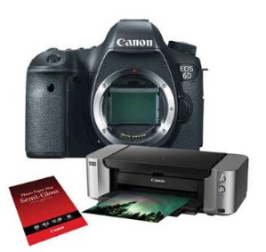 $899Canon EOS 6D DSLR Camera Body with Special Promotional Bundle