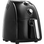 BELLA 14538 1500W Electric Hot Air Fryer with Removable Dishwasher Safe Basket, 2.5 L, Black