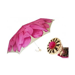 Unineed.com | Pasotti Women Pink Dahlia Folding Umbrella - Premium beauty and fashion from Unineed.com