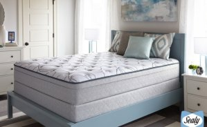 Closeout — Sealy Highfield Plush Euro-Top or Firm Mattress Sets. Free White Glove Delivery.