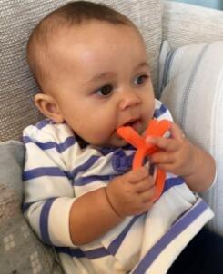 Comotomo Silicone Baby Teether Orange