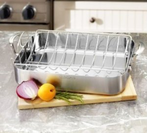 $66.93 Cuisinart MultiClad Pro Stainless 16-Inch Rectangular Roaster with Rack