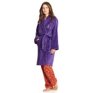 Plush Shawl-Collar Robe - Sleepwear & Loungewear � Women - RalphLauren.com