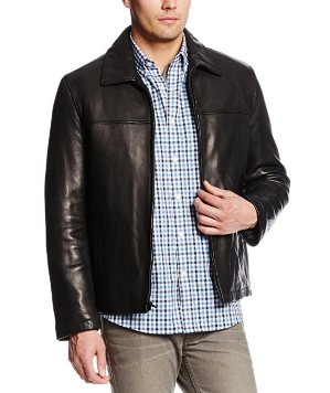 Tommy Hilfiger Men's Open Bottom Classic Leather Jacket