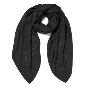 KENZO Women's High End Icons Flying Logo Devore Scarf - Grey - Free UK Delivery over £50