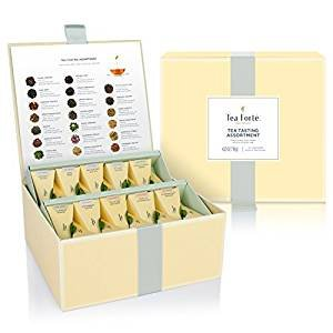 Tea Forté Tea Chest Tasting Assortment with 40 Handcrafted Pyramid Tea Infusers