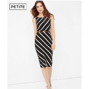 Petite Diagonal Stripe Sheath Dress