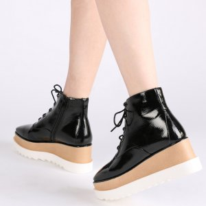 GIESEL STACKED FLATFORM ANKLE BOOTS