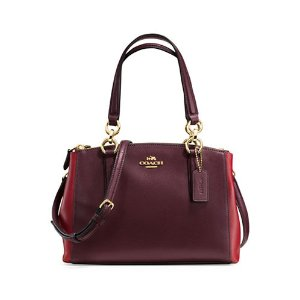 Coach  Grossgrain Leather Satchel | Lord & Taylor