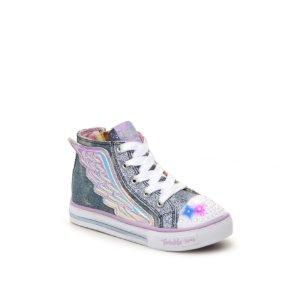 Skechers Twinkle Toes Flutter Up Girls Toddler Light-Up High-Top Sneaker