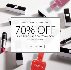 One day only! 70% Off Sitewide @ Zoya