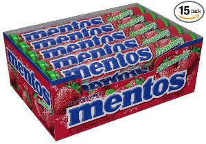 Mentos Rolls, Strawberry, 1.32 Ounce (Pack of 15)