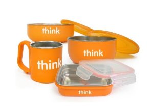 Thinkbaby BPA Free Complete Feeding Set, Orange