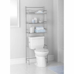 19.97 Mainstays 3-Shelf Bathroom Space Saver, Satin Nickel Finish