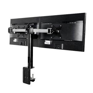 FLEXIMOUNTS D1D Full Motion Dual Arm Desk Monitor Mount