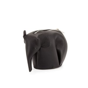 Loewe Elephant Leather Coin Case, Black