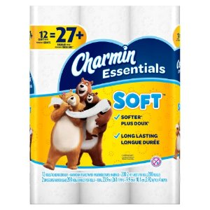 Charmin Essentials Soft Toilet Paper, 12 Giant Rolls | Jet.com