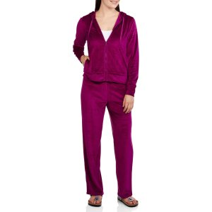 NYC Alliance Women's Velour Tracksuit Set with Hoodie