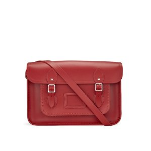 Red 15 inch Classic Satchel | Cambridge Satchel Company