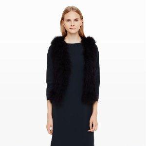 Women   Jackets and Vests   Violet Feather Vest   Club Monaco
