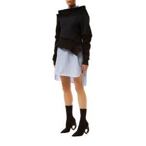 Burberry Runway Sculptural Melange Sweatshirt