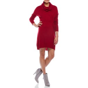 Cowl Neck Sweater Dress -