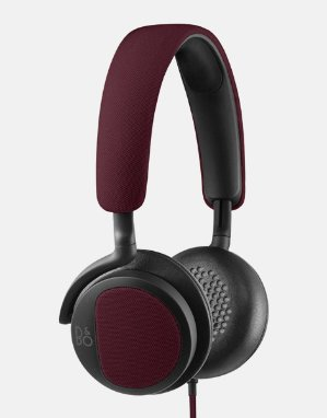 B&O Beoplay H2 On-Ear Headphone with Microphone (Deep Red)