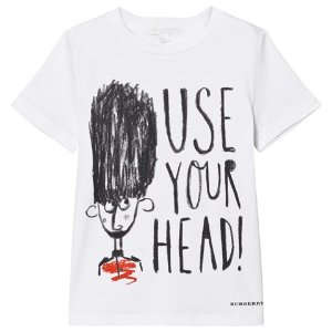 Burberry White Use Your Head Beefeater Print Tee | AlexandAlexa