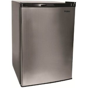Haier 4.5 cu ft Refrigerator, Virtual Steel