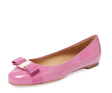 Varina Patent Leather Ballet Flat by Salvatore Ferragamo at Gilt
