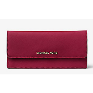 Jet Set Travel Slim Saffiano Leather Wallet | Michael Kors