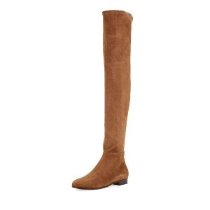 Jimmy Choo Myren Stretch-Suede Over-the-Knee Boot, Khaki Brown