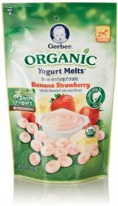 $2.74 Gerber Organic Yogurt Melts Fruit Snacks, Banana and Strawberry, 1 Oz