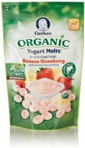 $2.74 Gerber Organic Yogurt Melts Fruit Snacks, Banana and Strawberry, 1 Oz