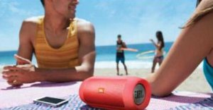 JBL Charge 2 Portable Bluetooth Speaker - Red